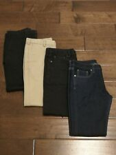 Lot of 4 Uniqlo Mens Slim Fit Stretch Selvedge Jeans and Chinos Size 30 x 30