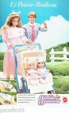PUBLICITE ADVERTISING 116  1986   Mattel jeux jouets  poupée La Famille Douceur