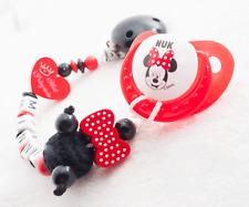 Schnullerkette mit Namen ? Mini Prinzessin + Maus + SCHNULLER SET ? Baby Mädchen