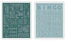 Sizzix Tim Holtz textura se desvanece Bingo & Patchwork de Grabación en Relieve Conjunto. 656643