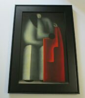 JESUS MARIANO LEUSS PAINTING SURREALISM CUBISM MODERNISM TEXAS MEXICO ABSTRACT