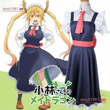 Anime Miss Kobayashi's Dragon Maid Loli Tohru French maid Dress Cosplay Outifit