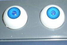 """Paire de Acrylique yeux bleu 0.87""""/22 mm/Réalistes Yeux/BJD/Glastic"""