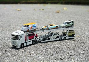 GCD 1/64 Mercedes-Benz Tractor Transport Vehicle Alloy Trailer Frame Model Car