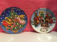 Lot Of (2) AVON Collectible Christmas Plates (1991, 1995)