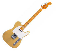 SX ELECTRIC GUITAR TELE SHAPE SOLID BODY IN BUTTERSCOTCH BLONDE -  FREE GIG BAG