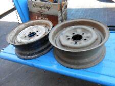 1960 1961 Chevy Impala Belair Biscayne 1 pair steel wheels w/nubs 14 x 5J GM