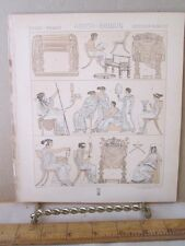 Vintage Print,GREEK ROMAN, MOBILIER SIEGES DIVERS,Didot,19th Century