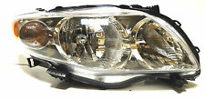 Toyota Corolla USA 09-13 Right Front head lamp lights for CE/LE models CHROME **