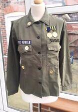Zara Khaki Military Overshirt Jacket Size M UK 12 BNWT