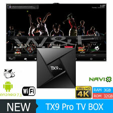 TX9 Pro Ultra HD 4K 3D Android 7.1 Smart TV Media Box Octa Core S912 3GB+32GB