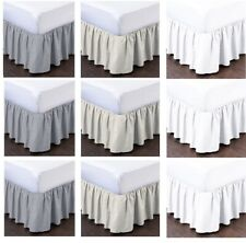 Bed Skirts Ruffled Bed Skirts Split Corner Easy Fit Style King/Queen All Size