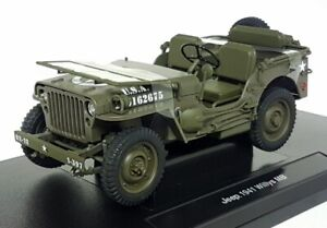 Welly 1/18 Scale Diecast - 18055C-W 1941 Jeep Willys MB Open top US Army