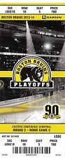 2014 BOSTON BRUINS VS MONTREAL CANADIENS PLAYOFFS GAME #2 TICKET STUB