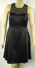 City Chic Sexy Black Beaded Sleeveless Panel  Empire Dress Size XS 14 BNWT # I52