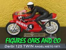 MOTO GP 1/24 DERBI 125 TWIN 1971 AVEC PILOTE ANGEL NIETO