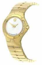 MOVADO 0604727 SPORT EDITION LADIES GOLD TONE DIAMOND MOP DIAL WATCH $2795.00