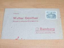 Lotería sobres: Walter Günther con marca 1pf.