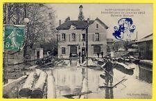 """cpa St LAURENT sur SAÔNE """"Lès Mâcon"""" (Ain) INONDATION 1910 Usine SCIERIE BOULAY"""