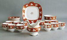 Superb Early 19th C. Coalport Hand-Painted Tea Set  c. 1820  Tea Coffee & Plates