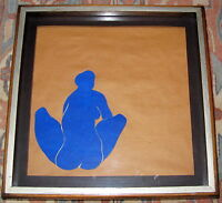 Fine Art Original Nude Figure Drawing by James Rosati, signed, Shadow Box Framed