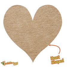 72x efecto Kraft Llano en forma de Corazón hágalo usted mismo Boda Favor Pegatinas En Blanco 504