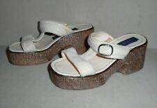 Vintage Italy High Class Shoes Women's Block Wegde Sandals Sz 6