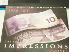 New listing Canada 10$ Dollari 1989-2001 Lasting Impressions Vives Set.