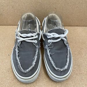 Vans Women size 9 gray fabric upper lace up boat style sneakers