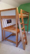 Pine HIGH SLEEPER Study bed. IKEA. Single. Suit 10-15 years. Good condition.