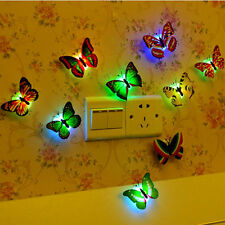 Party Magic Colorful Romantic LED Butterfly Night LED Light Home Room Decor Lamp