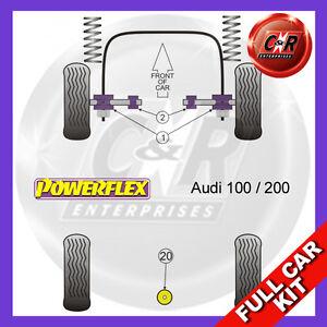 For Audi 100 Quattro + Avant Typ44 (C3) (10/84-11/90) Powerflex Full Bush Kit