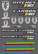 RITCHEY WCS Carbon Bicycle Frame Decal Sticker Adhesive Set Vinyl Sheet 15 Pcs