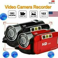 "Portable Full HD 1080P 16MP 16X Zoom 2.7"" LCD Digital Camcorder Video DV Camera"