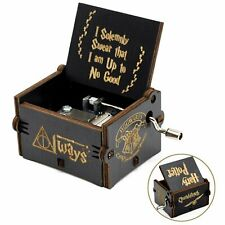 """""""Harry Potter"""" Hand Crank Music Box Handmade Carved Wooden Friends Kids Toy Gift"""