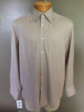 Hugo Boss Mens Long Sleeve  Dress Shirt Plaid/checks Size 17/43 Very Nice!  F4
