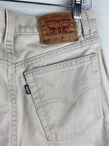 LEVI'S 512 Slim Fit Straight Women's White Jeans 11 Juniors Denim USA 28 x 32