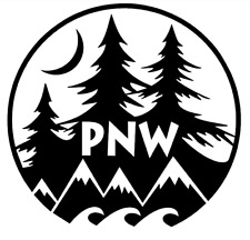 PNW Pacific Northwest Decal OEM Car Parts PNW love