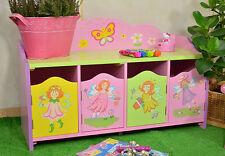 Kinderbank Kinderschrank Prinzessin Kindermöbel Kinderregal Pink Traum Fee Rosa