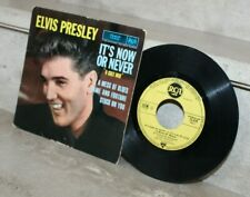 EP ELVIS PRESLEY-IT'S NOW OR NEVER-RCA 75619-LABEL JAUNE-FRENCH