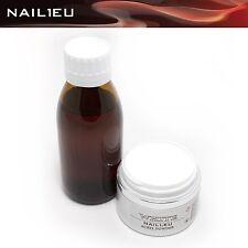 Acryl-Set: Liquid 100ml + 41g Pulver weiß NAIL1.EU WHITE Acryl Flüßigkeit Powder