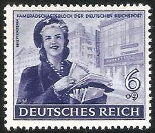 DR Nazi 3d Reich Rare WW2 Stamp Hitler Jugend Postman Girl Scout Swastika Eagle