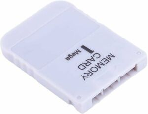 New White 1 MB 1MB Memory Card for Sony Playstation 1 One PS1 PSX Game System