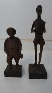 Don Quijote (No. 576) und Sancho Panza (No. 701) - OURO ARTESANIA - Holzfiguren