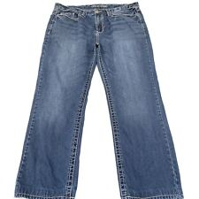Guess Daredevil Boot Cut Jeans Sz 38 Zipper Fly Embroidered Flap Back Pockets