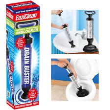 Drain Buster Plunger Power Suction Toilet Sink Shower Pipe Clog Sucker Unblocker