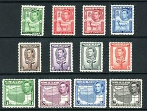SOMALILAND 1938 GVI MM SET SG 93-104 Cat. £150