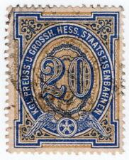 (I.B) Prussian State Railways : Prussia-Hess Parcels 20pf