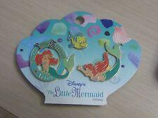 Disney Japan Mickey & Pal Ariel 3 Pin Set Little Mermaid On Original Card