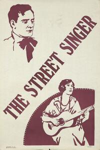 Original Vintage Poster Theater England Street Singer ca. 1900